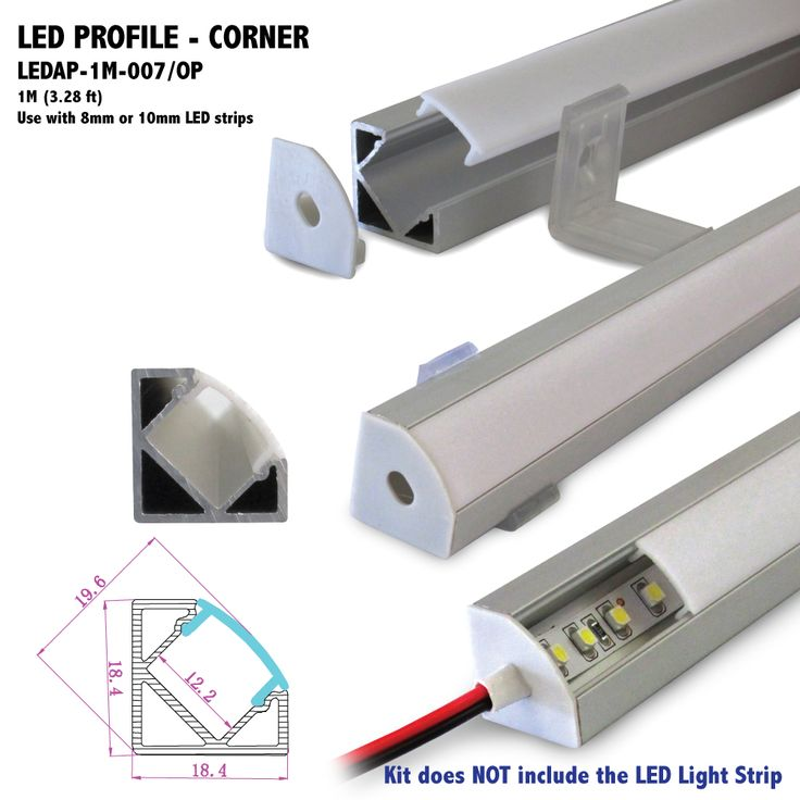 26 best led aluminum profiles images on pinterest led strip ledap 1m 007 length 1m 328 ft can be cut to your specs or joined together seamlessly for longer applications width 184mm 072 in height aloadofball Images