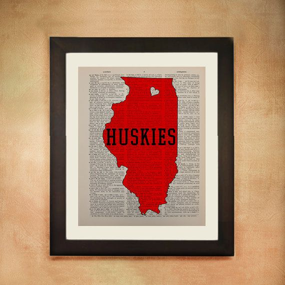 Northern Illinois Huskies Dictionary Art Print by Lexiconograph, $8.99
