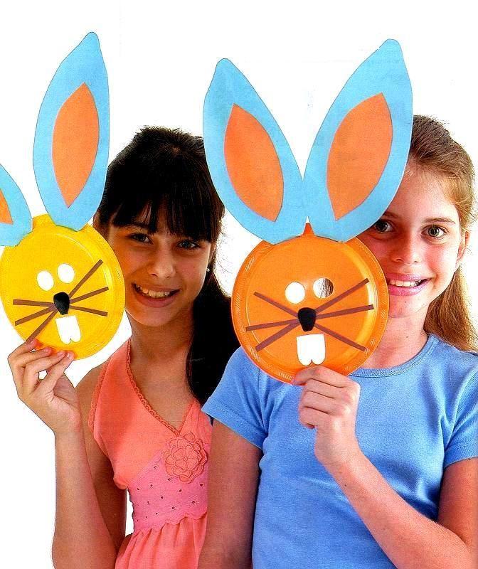 Pra Gente Miúda: Máscaras de coelho com prato descartável