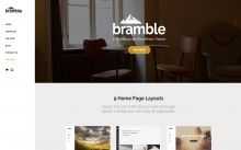 Bramble - highly customizable #multi-purpose #WordPress #theme that will make your #site stand out from the crowd.