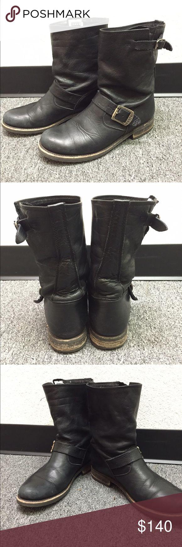 Frye Veronica Short Engineer Biker Boots 8 Frye Veronica Short Engineer Biker Boots. Size 8. Black Frye Shoes