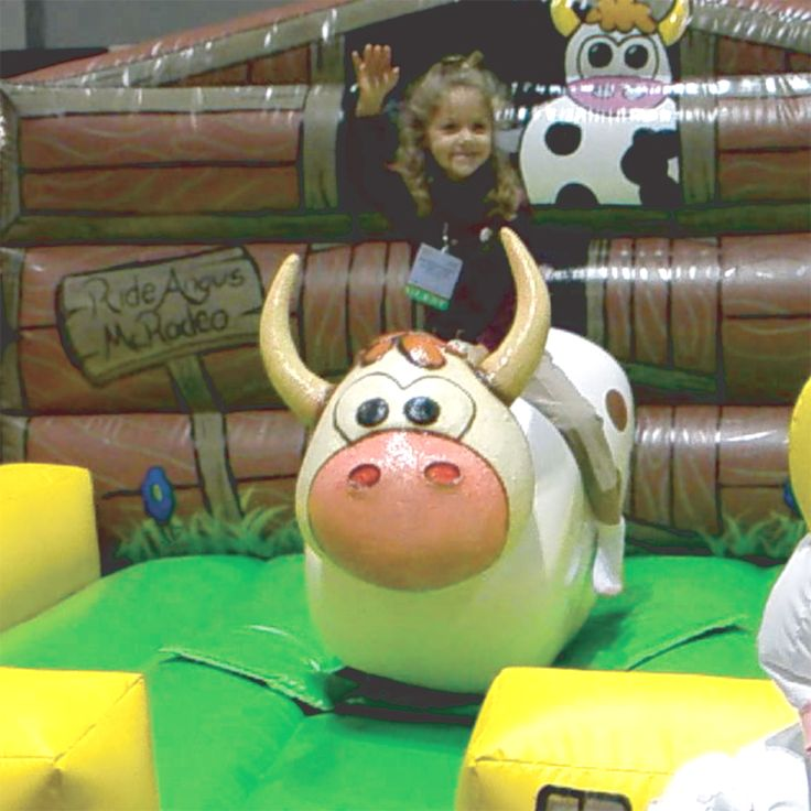 Why should grown ups have all the fun? Angus McRodeo™© (our baby bull) is specially designed for children UNDER five years of age. http://galaxymultirides.co.uk/Angus-McRodeo.html