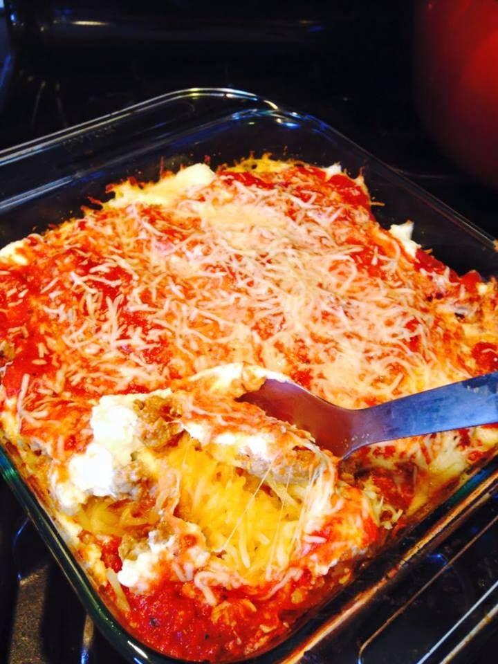 21 Day Fix Spaghetti Squash Lasagna 1 RED) 1/2 BLUE 1 GREEN