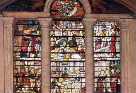 Título: Historia de Santa Maria Autor: Guillaume de Marcillat Lugar: Iglesia de Santa Maria del Popolo Siglo: XVI