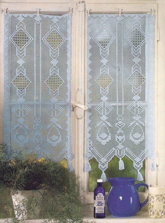 430 besten h keln gardinen crochet curtain bilder auf pinterest fileth kelei netzgardinen. Black Bedroom Furniture Sets. Home Design Ideas