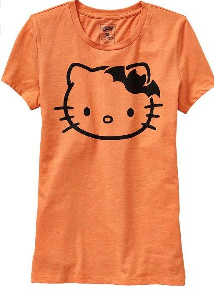 Last minute Halloween costume gift for yourself (the cool mom): Hello Kitty Halloween T-Shirt @ Old Navy