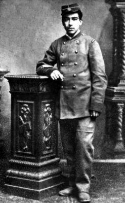 Antonio Gálvez Soldado del Batallón Valparaíso, año 1881.