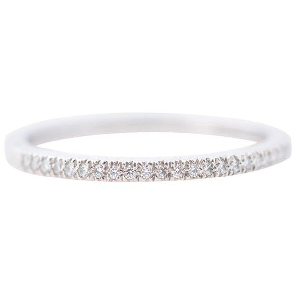 Tiffany And Co. 0.20 Carat Diamond Platinum Band Ring (6.510 BRL) ❤ liked on Polyvore featuring jewelry, rings, band rings, multiple, platinum jewelry, diamond rings, circle diamond ring and band jewelry