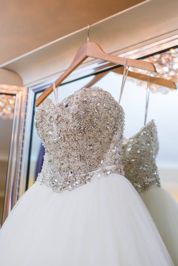 A lovely gray and pastel spring wedding, featuring a sparkling princess ballgown, Esme by Maggie Sottero!