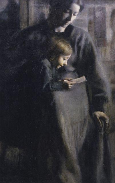 Giacomo Balla . Affetti (detail), 1910