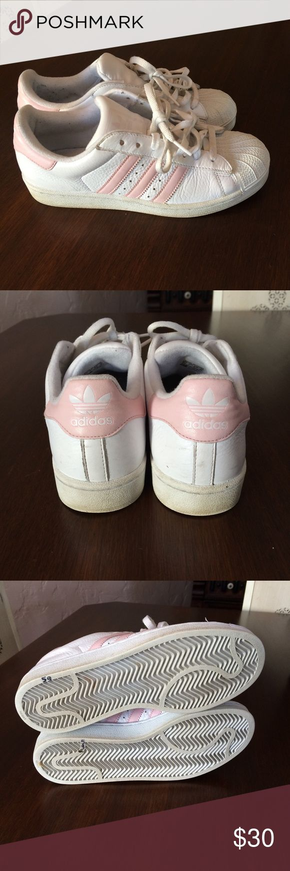 Vintage adidas originals superstar pink white 8.6 Adidas adidas Shoes Athletic Shoes