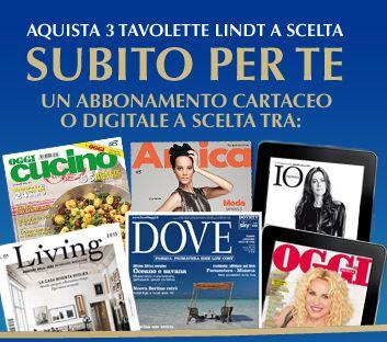 Come leggere gratis grazie a Lindt che ti regala abbonamenti alle riviste RCS | Mammarisparmio, risparmiare il mio mestiere