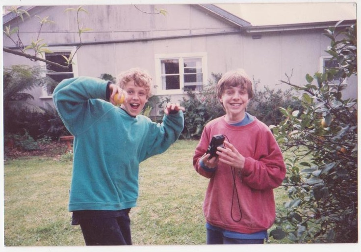 Jeremy and Jonathan at 14 and 15 about 1991