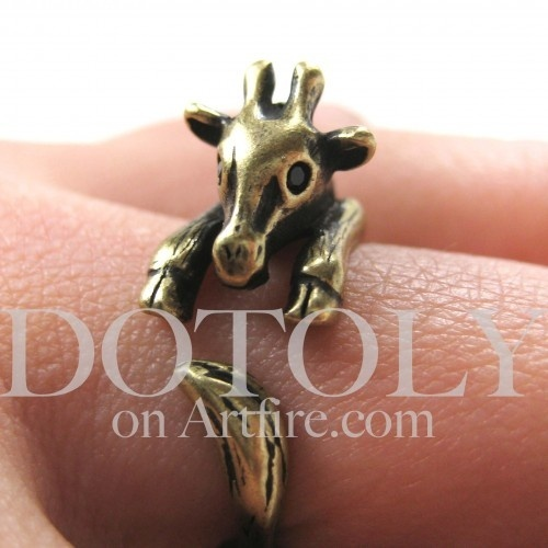 If you love me youll buy me this! PLEASE! brittanykendallGiraffes Rings, Style, Giraffes Animal, Baby Giraffes, Animal Rings, Jewelry, Bronze Size, Online Stores, Miniatures Baby