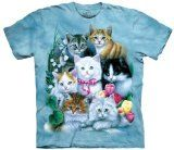 The Mountain Kittens Adult Size XXL T-Shirt (Blue)   Super Soft Print Original Art Easy Care Machine Wash Pre-Shrunk  The Mountain T-Shirts are premium, hand-dyed shirts screenprinted using environmentally safe, water based inks. They feature a leather feel label so comfortable there is never a...