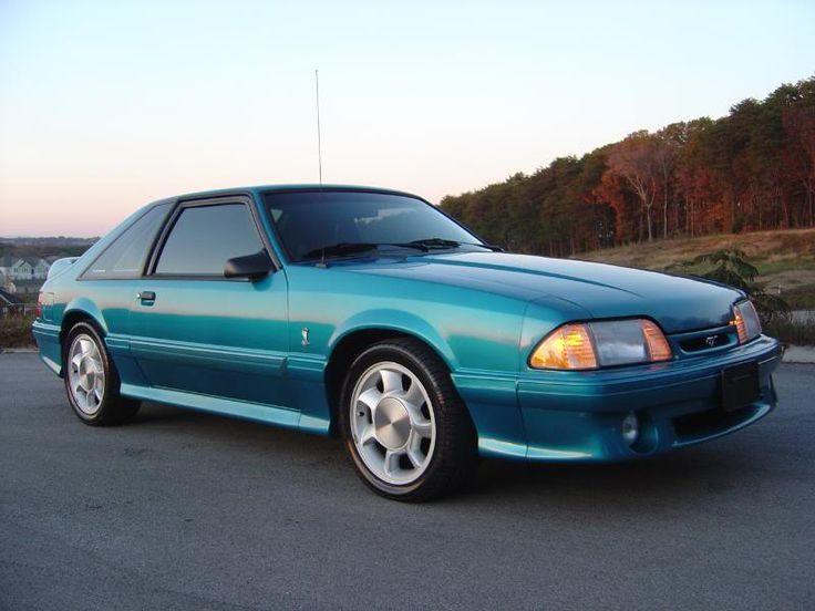 Love the color - 1993 Ford Mustang 5.0 liter 302 hatchback SVT Cobra in Teal Metallic