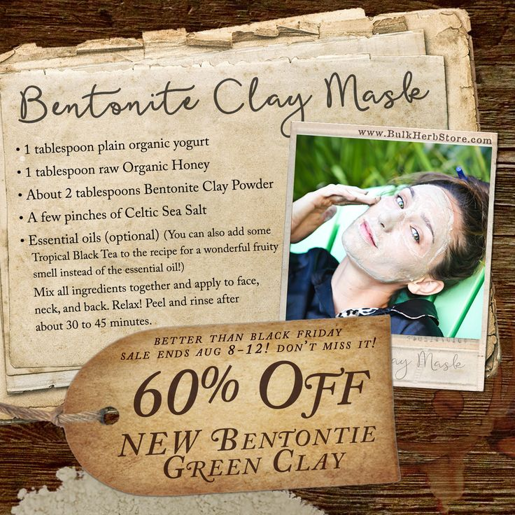 10 best natural body care images on pinterest body care personal get 60 off new bentonite green clay with coupon code summer16 hurry fandeluxe Image collections