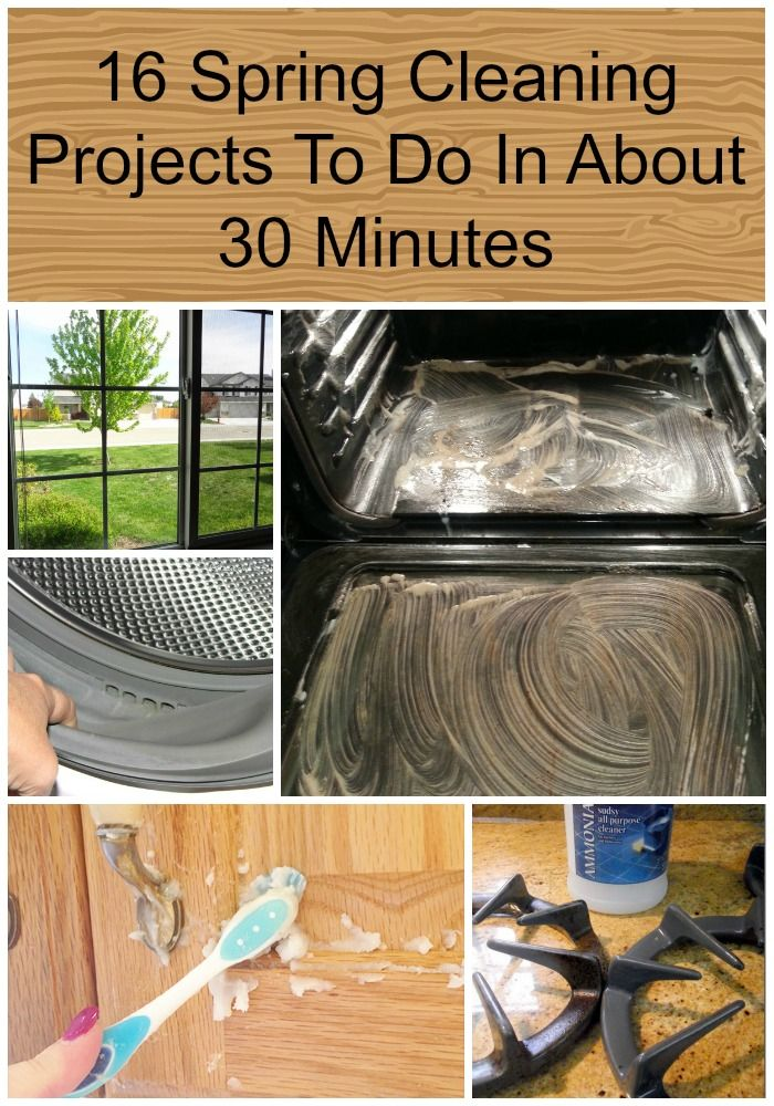 16 Spring Cleaning Projects To Do In About 30 Minutes pin