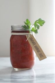 Best Ever Marinara Sauce - Style Me Pretty Living.  Excellent recipe! Would probably use a little less oil next time, I drained it a little at the end, but tastes great! --DG