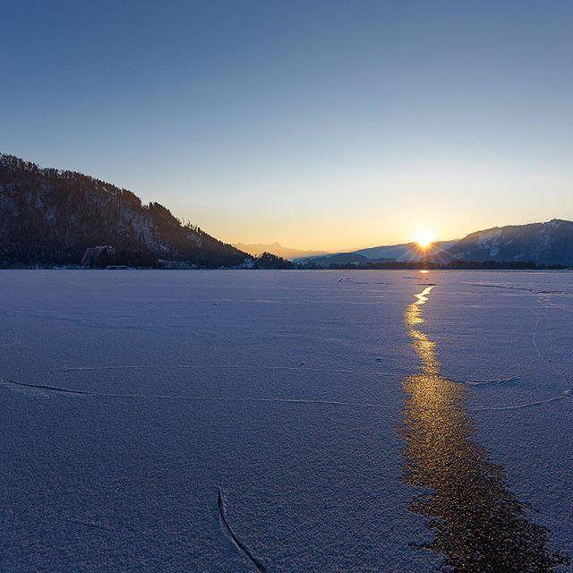 #Winter #Sonnenuntergang am #OssiacherSee #Gerlitzen #Villach #Kärnten
