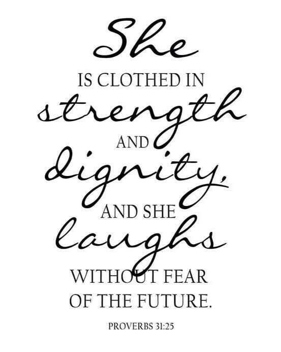 A great gift for bridesmaids and engagements  Proverbs 31:25