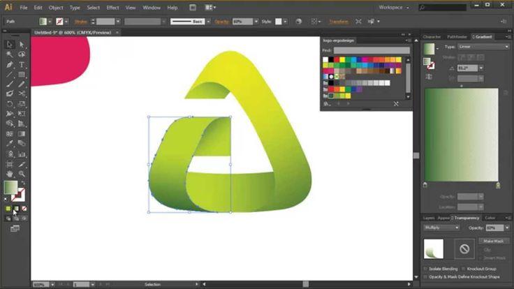 Adobe Illustrator Tutorial - Clean & Modern Logo