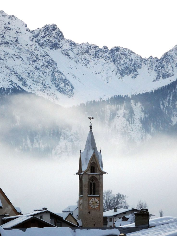 Church in Serfaus Austria