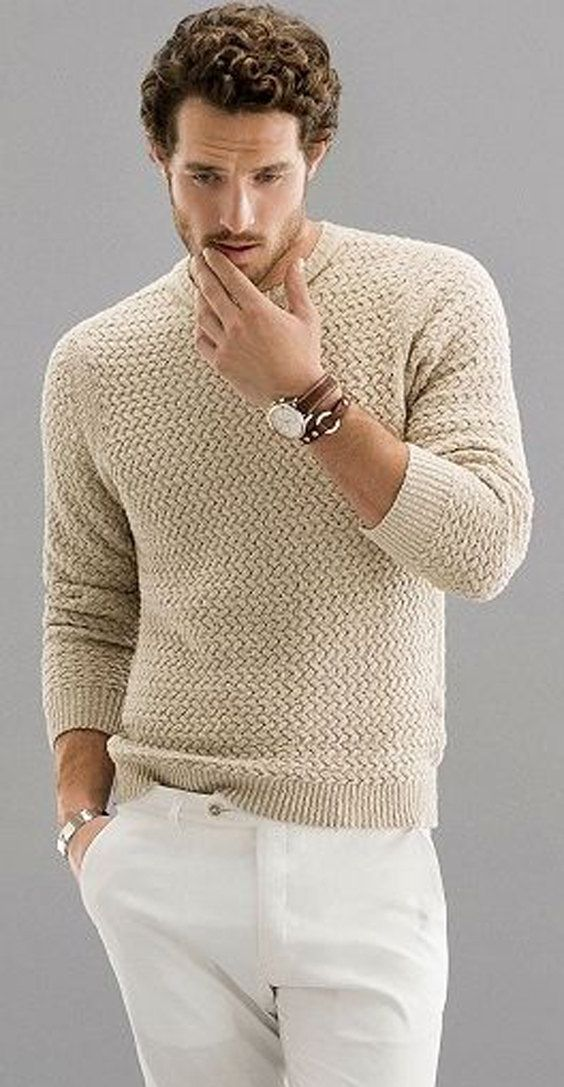 MADE TO ORDER men's Turtleneck Sweater v-neck men crewneck hand knitted sweater cardigan pullover men clothing handmade men knitting cabled