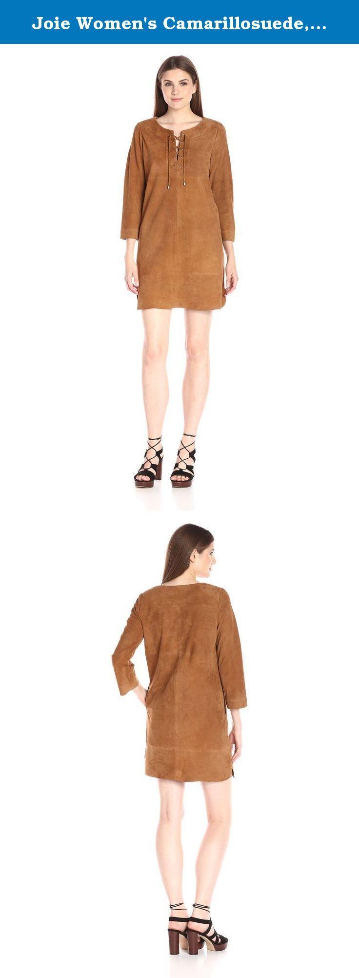 Joie Women's Camarillosuede, Honey, X-Small. Joie women's Camarillo tie up suede casual dress. Great fall basic.