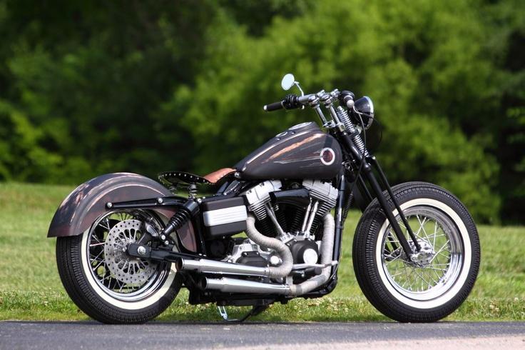 Black Denim Bobber Harley Davidson Bobbers Hot Rods