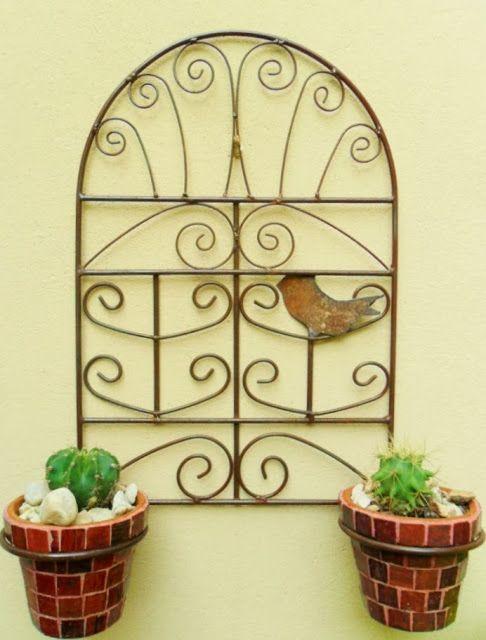 Porta macetas colonial tienda deco c tienda deco c for Jardin vertical mercadolibre