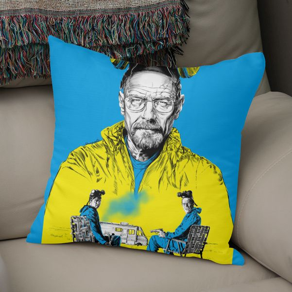 Discover «Breaking bad», Exclusive Edition Throw Pillow by Paola Morpheus - From 27€ - Curioos