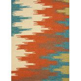 Found it at Wayfair - Colours I-O Rust Abstract Indoor/Outdoor Area Rug $395 7.5 by 9.5'