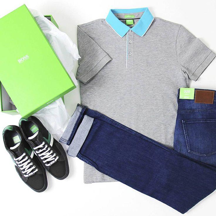 BOSS GREEN LABEL MAN – линия одежды для занятий спортом, а также другими активными видами деятельности. Статусная и технологичная коллекция одежды, с использованием инноваций в текстильном производстве.  _________________________________  Одежда для мужчин, 3 этаж