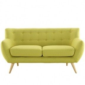 LexMod Remark Loveseat, Wheatgrass