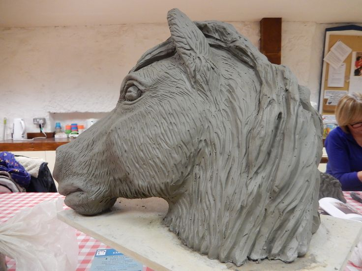 Fir - a North Berwick pony modelled in clay