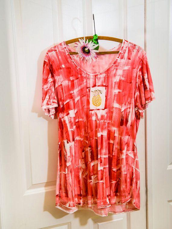Hawaiian  Plus Size Tunic  Cotton Tunic  by PetrinaBlakely on Etsy