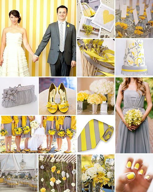1000+ Images About Yellow And Silver Weddings On Pinterest