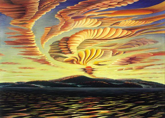 Donald Flather - Morning Storm Rising - Thetis Island