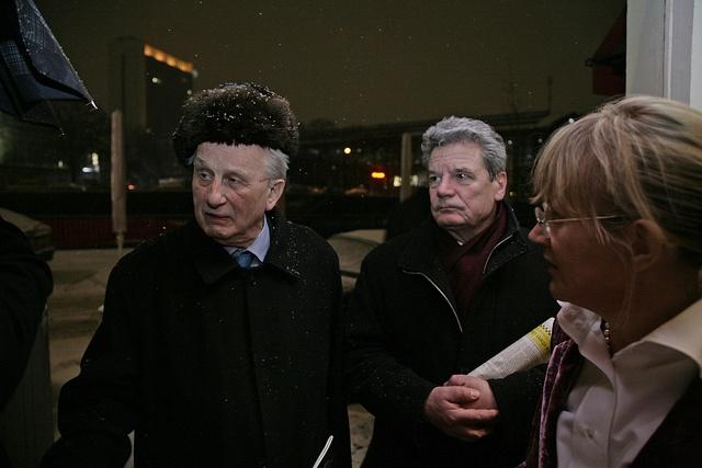 Rolf Hochhuth und Joachim Gauck  - der damals, 2006, noch nicht Bundespräsident war