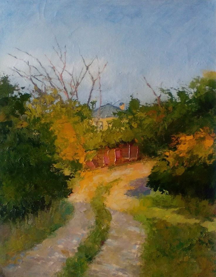 Morning, the village Agarak, Abkhazia oil on canvas