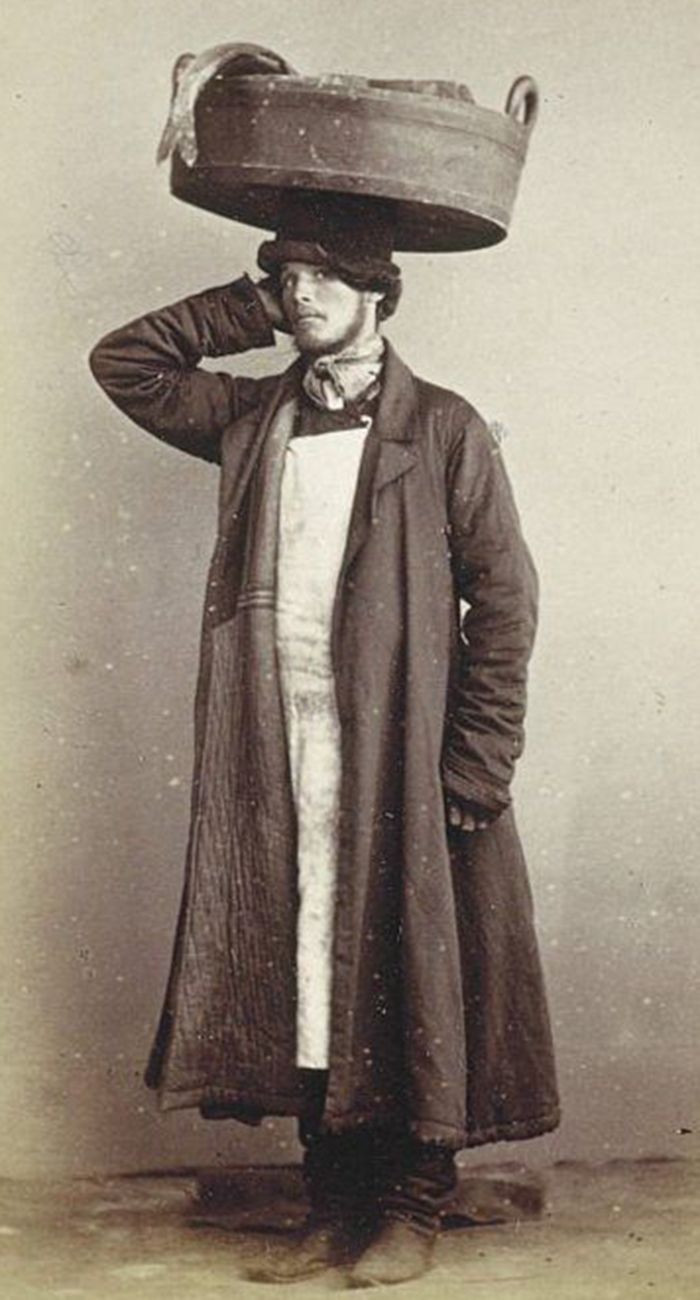 Very handsome young Russian fish trader, c. 1860