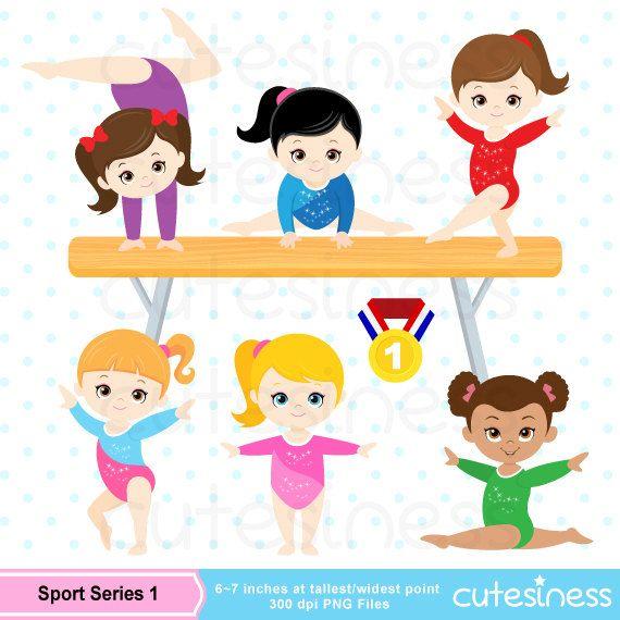Gymnastic Clipart, Gymnastic Clip Art, Gymnastic Girl Clipart, Gymnast Girl Clipart