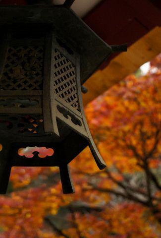 大興善寺  A Iron hanging lantern.  Saga prefecture, Japan
