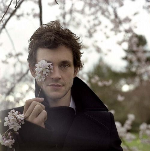 Hugh Dancy....A beautiful, handsome man and flowers...what's more beautiful?