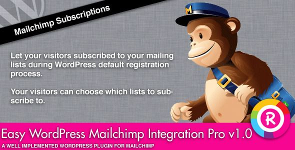 Easy WordPress Mailchimp Integration Pro (Newsletters)