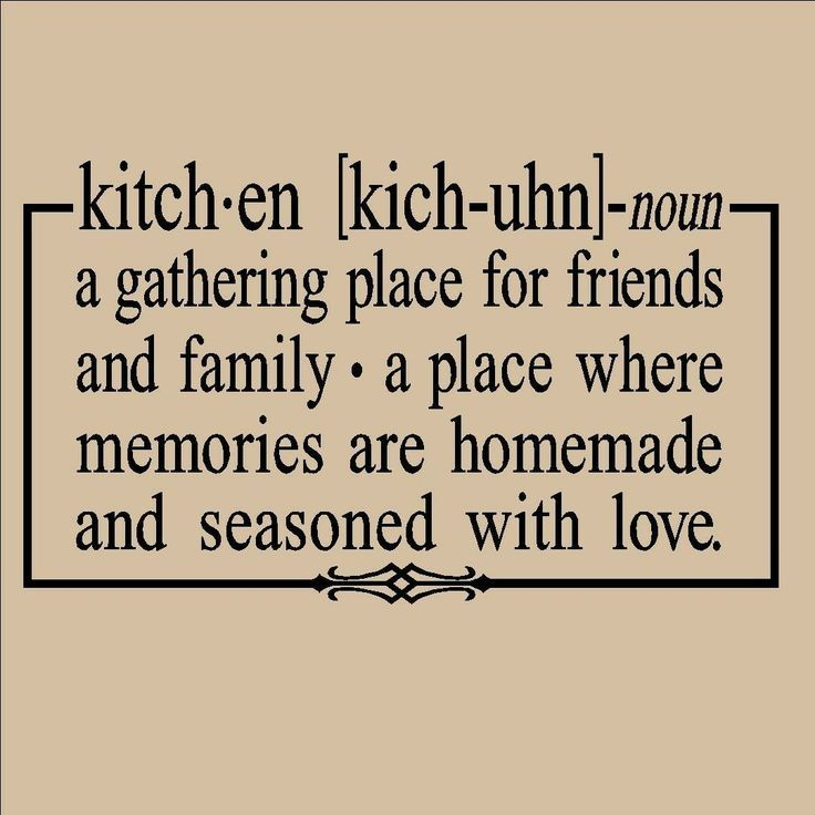Kitchen A Gathering Place For Friends And Family X Vinyl Lettering Wall Sayings Home Decor Art Sticker Decal Quote Word