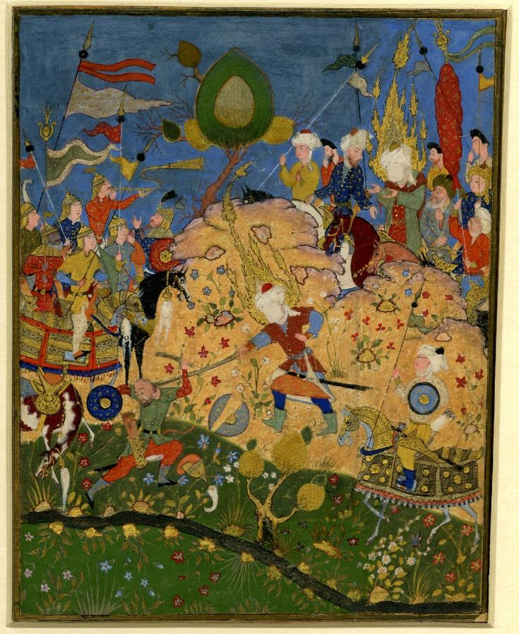 Early 17th Century Ottoman painting. (Credit to the British Museum)