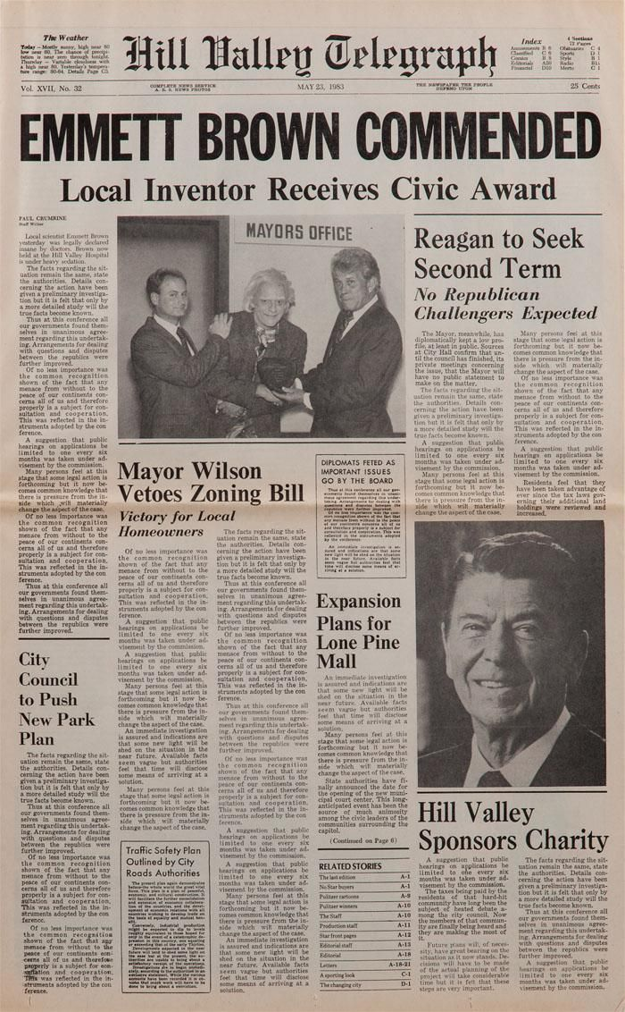 back to the future newspaper - Google Search