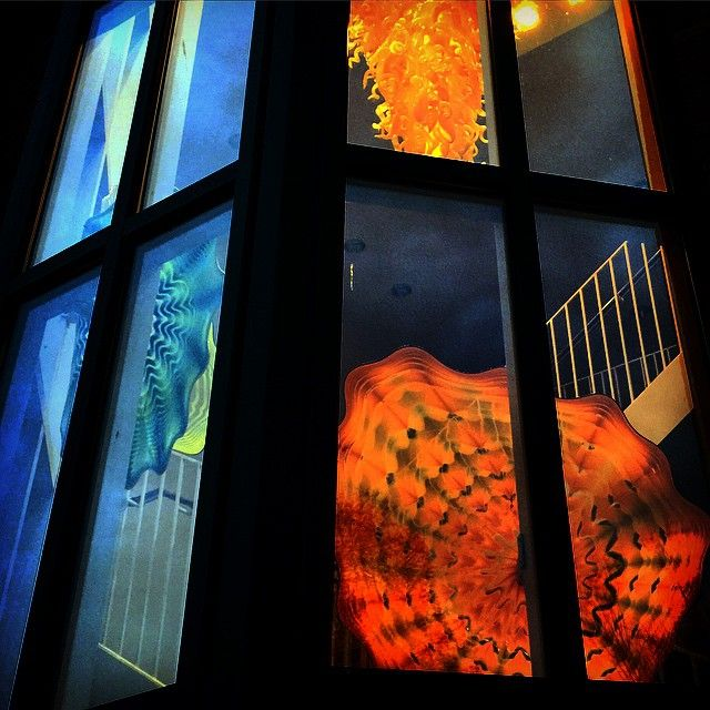Chihuly Persians and Chandelier, Columbus Visitors Center | Instagram photo by Yvette Kuhlman